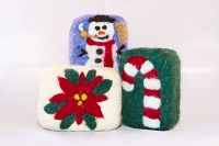 Woolly Bullies - Felted Goat Milk Soap - Christmas