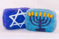 Woolly Bullies - Felted Goat Milk Soap - Hanukkah