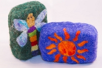Woolly Bullies - Felted Goat Milk Soap - Nature