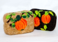 Woolly Bullies - Felted Goat Milk Soap - Autumn / Halloween
