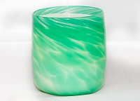 Jade Handblown Glass Candle (Refillable)