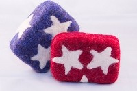 Woolly Bullies - Felted Goat Milk Soap - Fourth of July