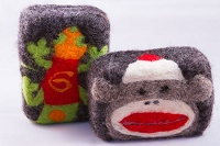 Woolly Bullies - Felted Goat Milk Soap - Animals