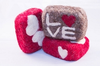 Woolly Bullies - Felted Goat Milk Soap - Valentine's Day