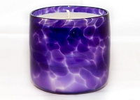 Amethyst Handblown Glass Candle (Refillable)