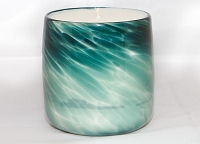 Green Handblown Glass Candle (Refillable)
