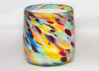 Carnival Handblown Glass Candle (Refillable)