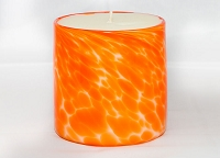 Orange Handblown Glass Candle (Refillable)