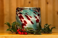 Christmas Day Handblown Glass Candle (Refillable)