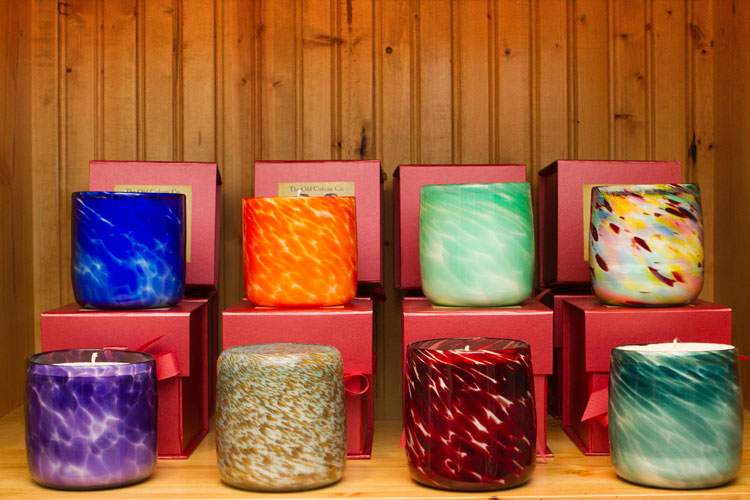 handblown glass candles
