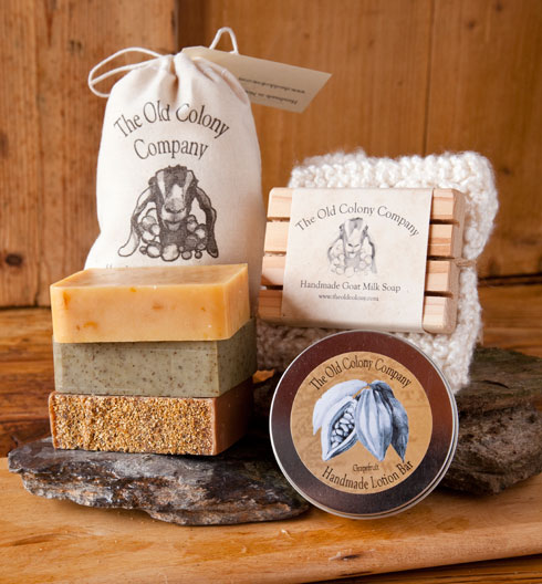 & Handmade Goat Milk Soap and Lotion Bar Gift Set | The Old Colony Company