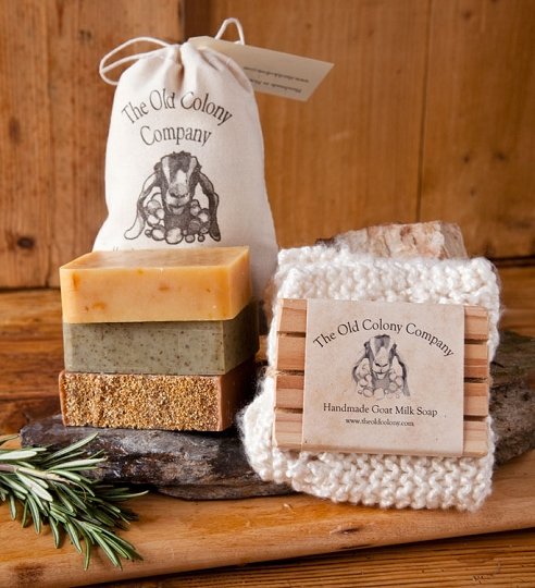 & Handmade Goat Milk Soap | Three Bar Gift Set | The Old Colony Company